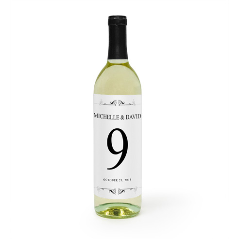 Wine Label | Table Number